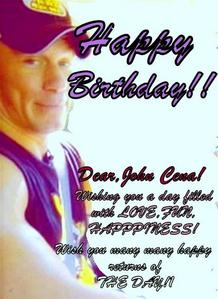 HAPPY BIRTHDAY JOHN CENA!