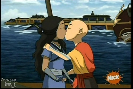 Here! find a picture of Sokka and Suki