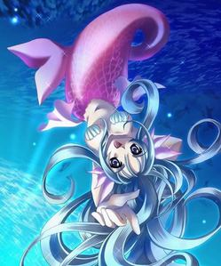 anda have Blue hair, Purple Eyes, and Purple Flippers. =) anda are a Sweet mermaid. anda have alot of Fr