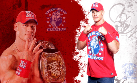 cena wearing smackdown shirt