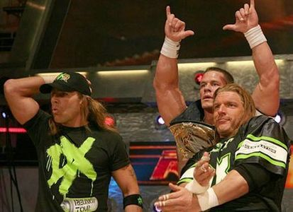 john tag team champs with hbk