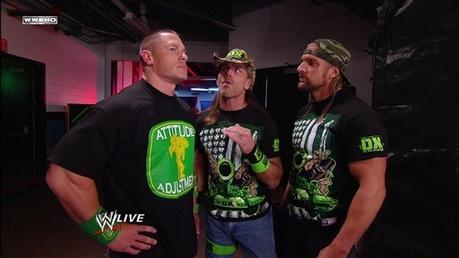 Nxt: John Cena and shawn michaels :)
