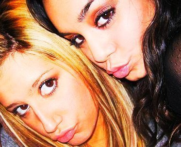 Ashley with Miley (this game sound's Like Fun )