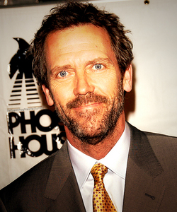 Watching very old House reruns... I will forever love House and Huddy, but most of all Hugh Laurie...