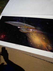 I have this limited edition print. It's a print from the painting in the captains ready room (TNG). I