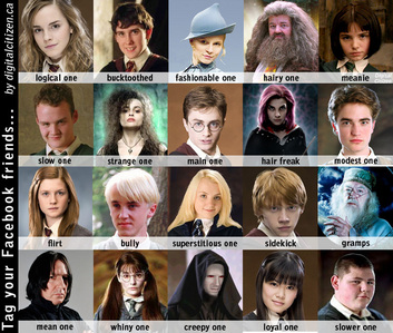 This is a really fun game I've played on other spots. You give one Harry Potter character and then th