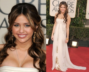 """Miley won the """"Which Dress Is Better"""" shabiki pick I did this because most people let there opinion get"""
