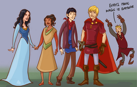 LOL this is an epic Merlin comic! Even though Uther looks weird.