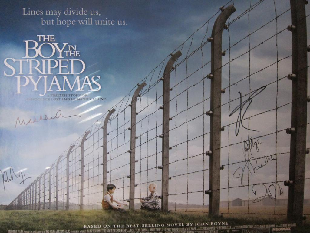 u0026quot;The Boy in the Striped Pyjamasu0026quot; signed Movie Poster - The ...