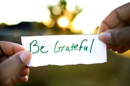 <i>&#39;Gratitude is not the result of things that happen to us; it is an attitude we cultivate by practi