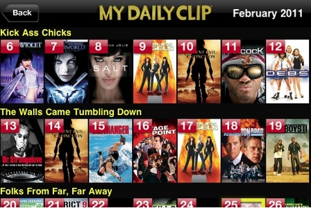 "This is a movie-related iphone app that I'd actually use.  Thought I would recommend.  It's called ""M"