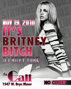 Hi, here's a Britney Chicago event. It's ALL Britney ALL night Nov 19