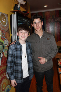 It looks like everyone wants to work with the talented Nick Jonas these days, including cutie Greyson