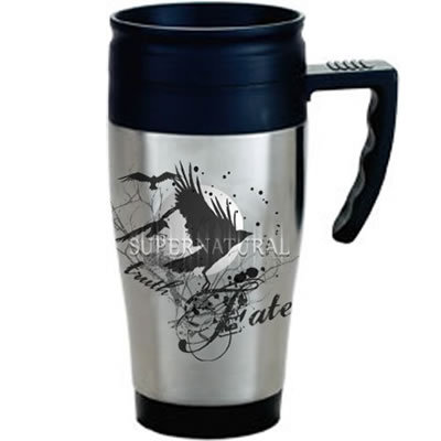"<b><u>Supernatural ""Truth & Fate"" Travel Mug</u></b> <u>Price:</u> 12.95 This sobrenatural ""Tru"