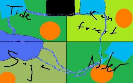 HEYO PPLZZZ!!!these r da territoriez- the orange circles-camps blue squares-waterfalls bleu liney