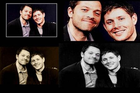 jensen ackles and misha collinsn :)