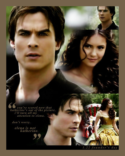 Damon & Elena wallpaper entitled [capspam] forbidden yet inevitable: evolution of damon x elena