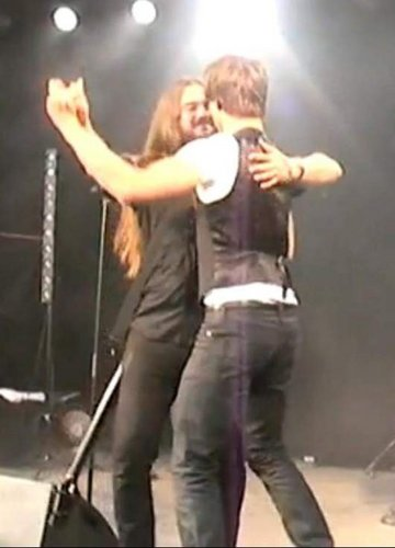 Alex dancing with a dude