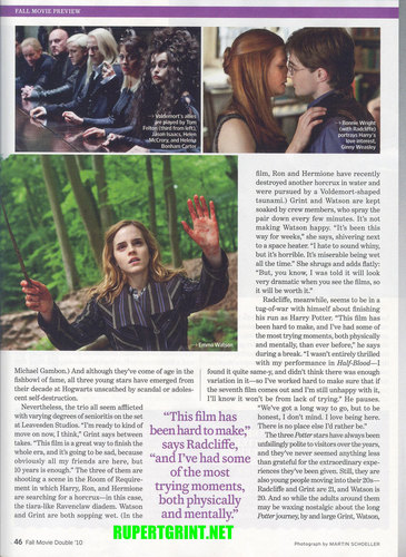 Bonnie as Ginny on Entertainment Weekly