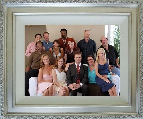 Cast picha framed