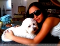 Charice And Her Dog