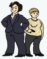 Fat & Female Sherlock&Watson