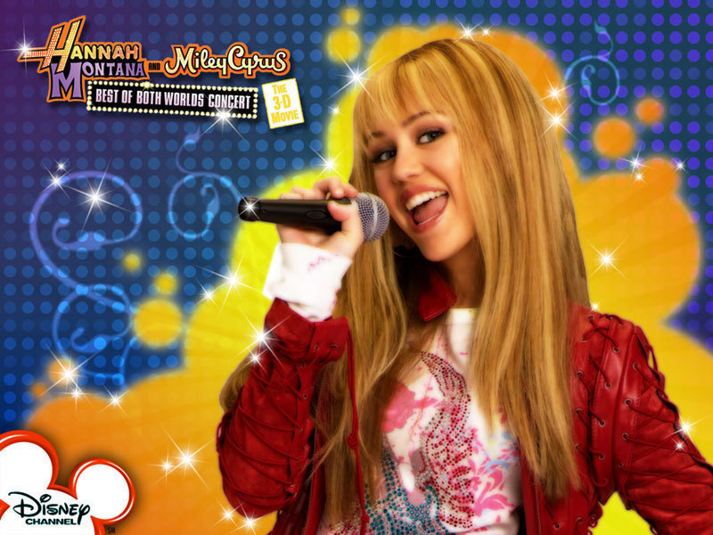 Hannah Montana concert fond d'écran