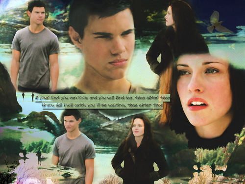 Jacob and Bella wallpaper called Jacob & Bella