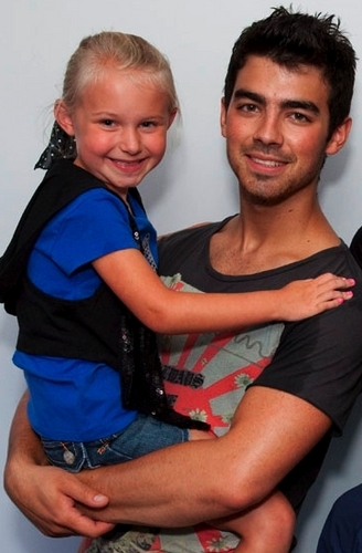 Joe with cute girl