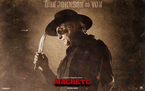 Machete wallpaper called Von Jackson Wallpaper