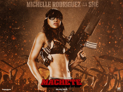 Michelle Rodriguez fond d'écran called Michelle as She in Machete