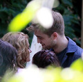 Robert Pattinson and Kristen Stewart Get Cozy on Set  - twilight-series photo