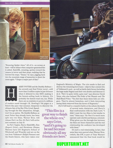 Rupert as Ron on Entertainment Weekly