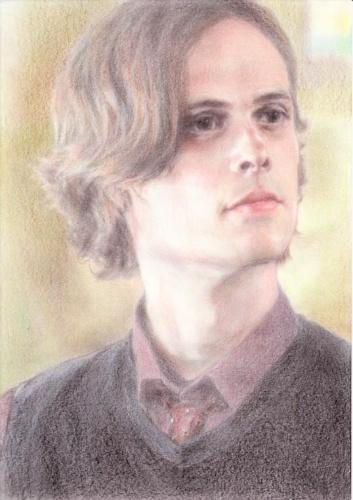 Dr. Spencer Reid wallpaper titled Spencer Drawing