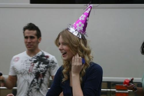 Taylor celebrating her brother's birthday