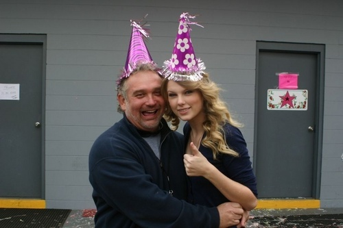 Taylor celebrating her brother's birthday