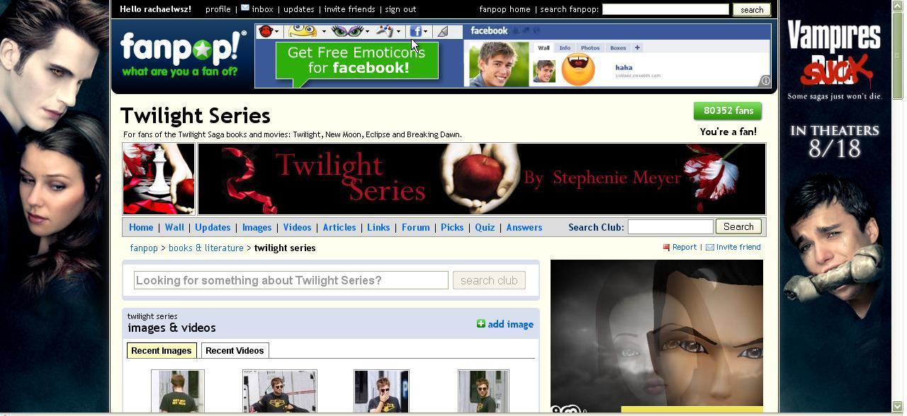 Vampire Sucks Ad in the Twilight Spot