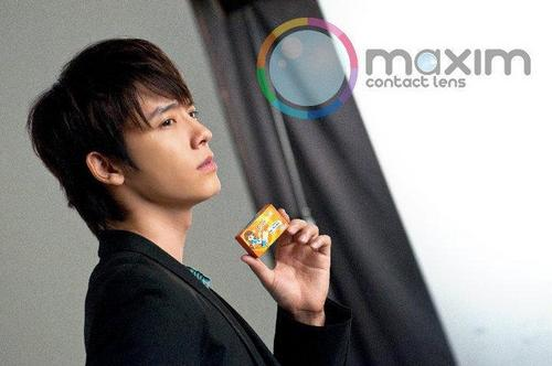 donghae for maxim contact lenses