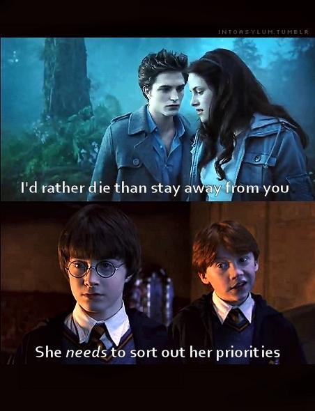 Funny harry potter vs twilight
