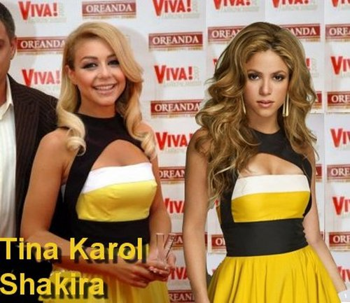 shakira tina same dress