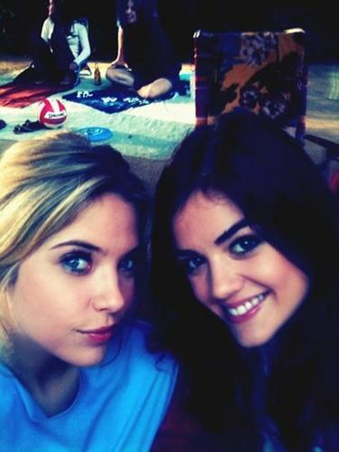 Lucy Hale & Ashley Benson wallpaper called Ashley and Lucy.