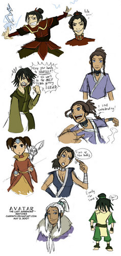 Avatar girls as guys and Avatar guys as girls