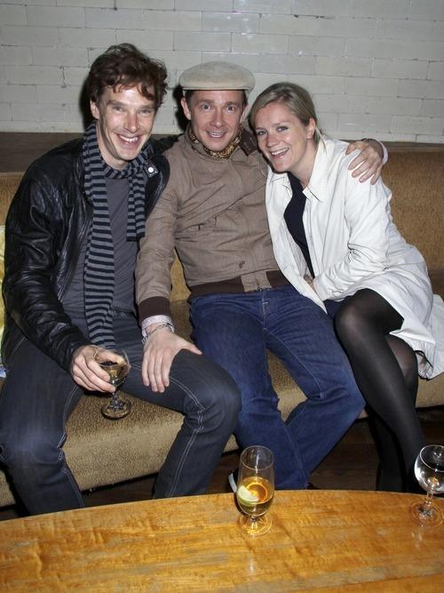 Benedict and Martin Freeman