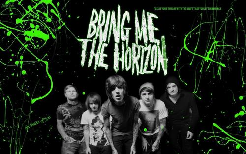 Bring Me The Horizon karatasi la kupamba ukuta called Bring Me The Horizon <3