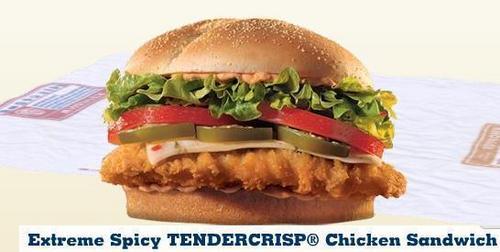Burger King pagkain