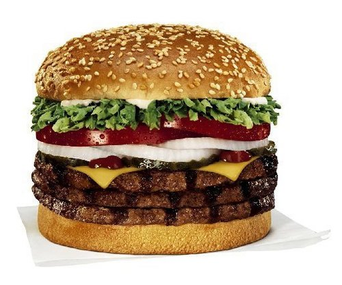 Burger King nourriture