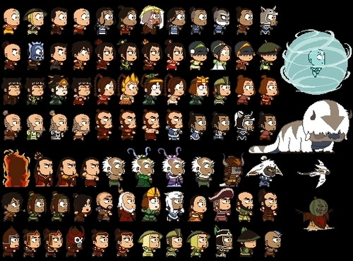 Avatar The Last Airbender kertas dinding titled Characters!! all!!