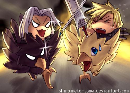 облако Vs Sephiroth on Chocobos