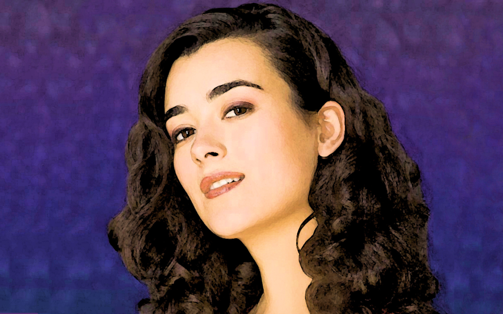 Cote De Pablo painting effect