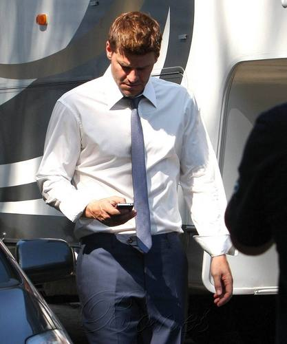 David Boreanaz on the Set